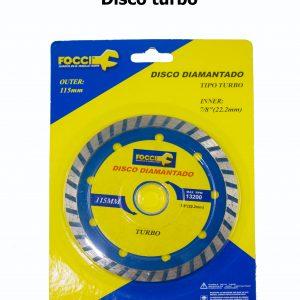 Disco pulidora turbo (corte concreto)